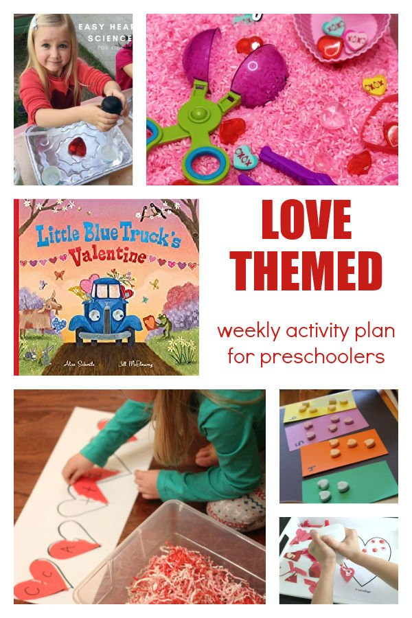 Love themed activities for preschoolers with hearts