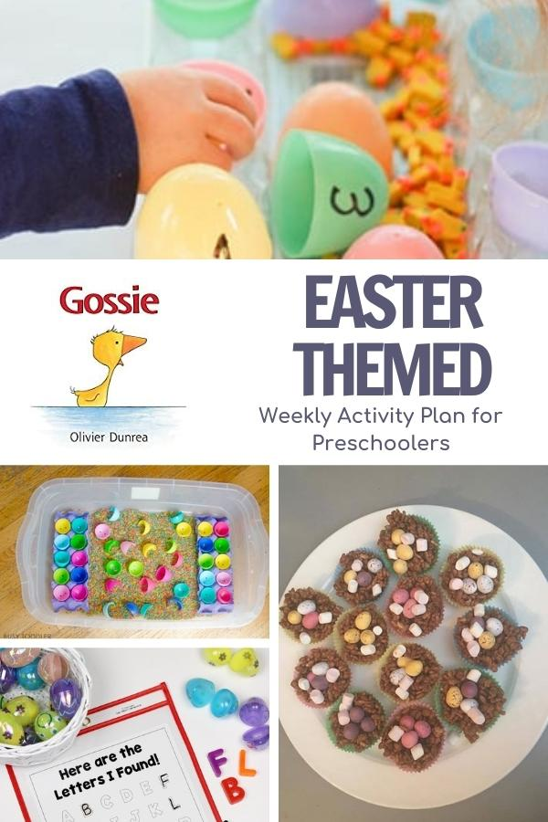 Activity Plan for Preschoolers for Easter featuring the book Gossie by OLivier Dunrea.