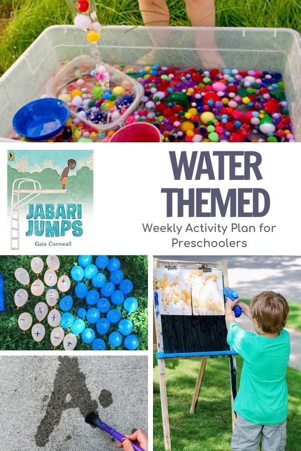 Pinterest image for Water Week with Preschoolers